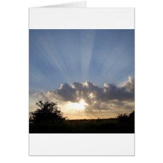 Sky Ray Of Light Greeting Card