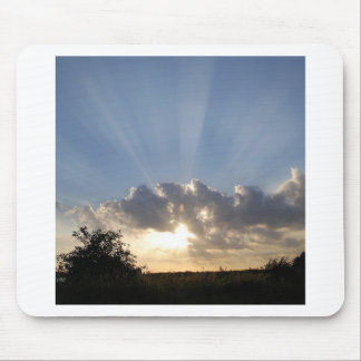 Sky Ray Of Light Mouse Pad