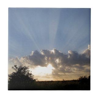 Sky Ray Of Light Ceramic Tile