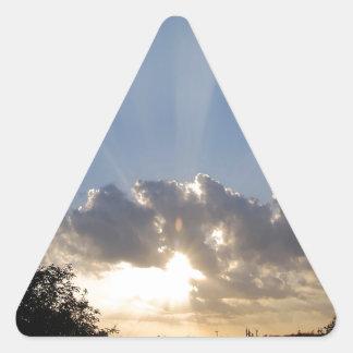 Sky Ray Of Light Triangle Sticker
