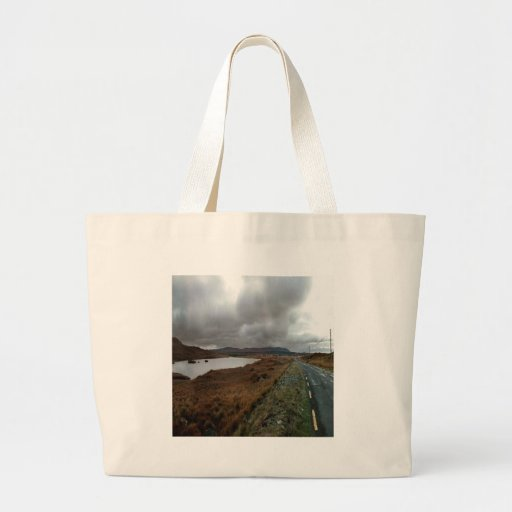 Sky Road To Ireland Canvas Bags