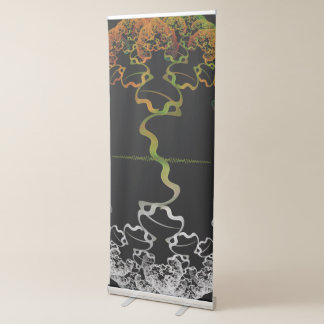 Sky Roots Wildstyle Mural of Autumn Fractal Trees Retractable Banner