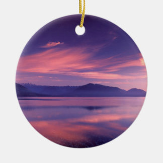 Sky Royal Reflection On Hood Canal Christmas Ornaments