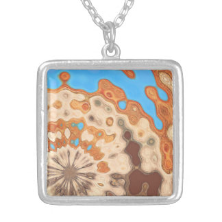 sky & sand abstract silver plated necklace