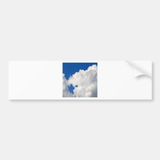 Sky Shapes Of Blue Bumper Stickers