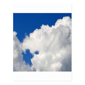 Sky Shapes Of Blue Postcard