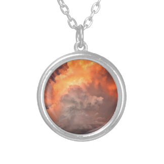 sky silver plated necklace