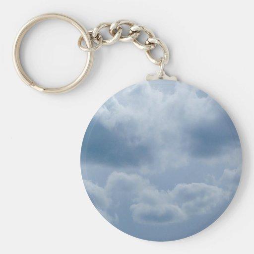 Sky Snow Clouds Key Chain