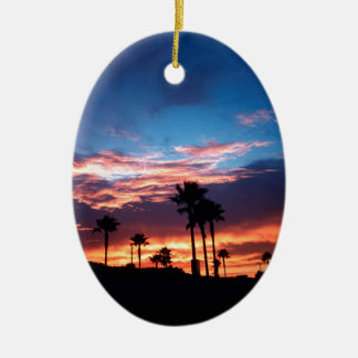 Sky Southern California Sunset Ceramic Ornament