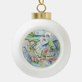 Sky Spirit Ceramic Ball Christmas Ornament