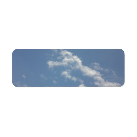 Sky, Sun and Sea Return Address Label