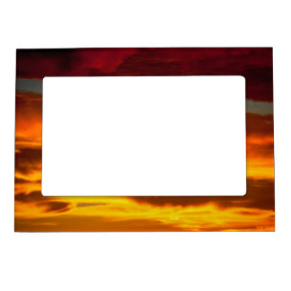 sky sunrise magnetic picture frame
