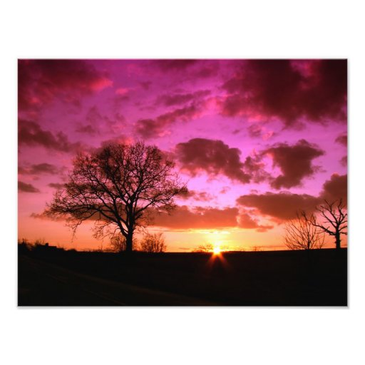 Sky Sunset Nature Photo Print