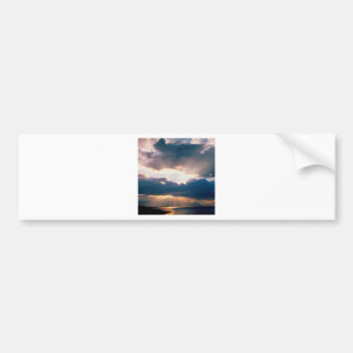 Sky The Last Rays Light Bumper Sticker