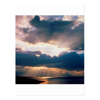 Sky The Last Rays Light Postcard
