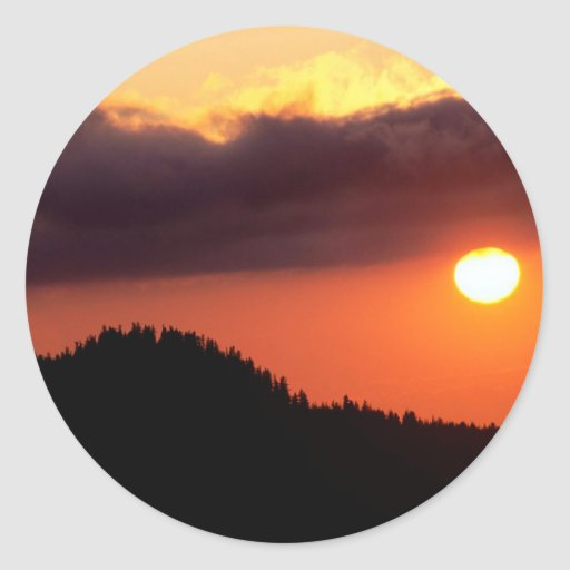 Sky The Warm Front Oregon Sticker