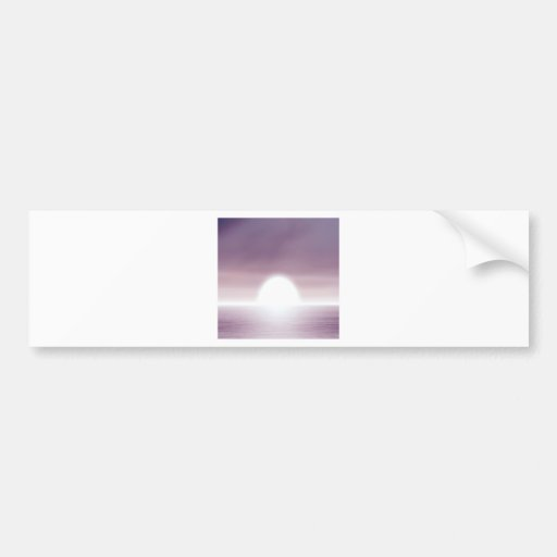 Sky Unreal Sunset Bumper Sticker