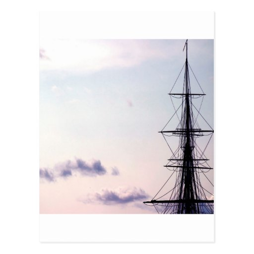 Sky Uss Constitution Mast Post Card