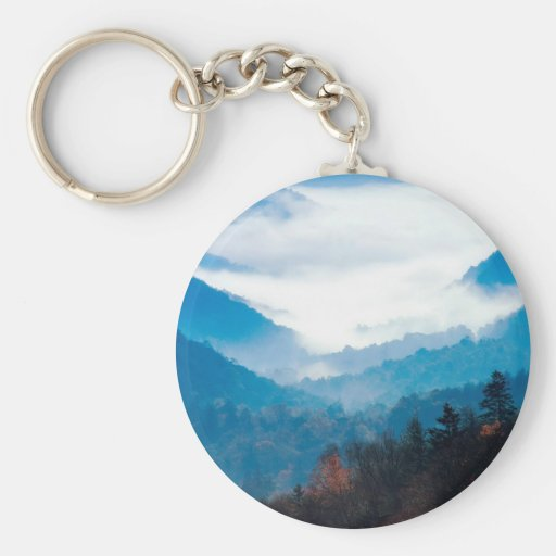 Sky Valley Of Clouds Keychain