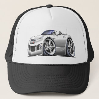 Sky White Car Trucker Hat