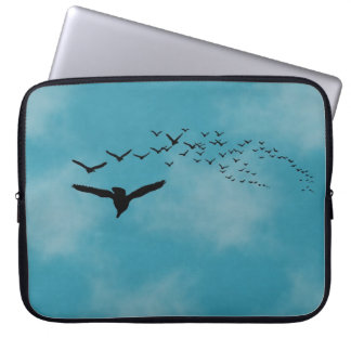 Sky with Birds Laptop Sleeve