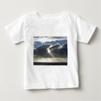 Sky with giants cumulonimbus clouds and sun rays baby T-Shirt