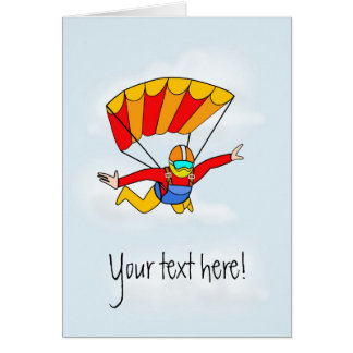Skydive - Add your own text! Greeting Card