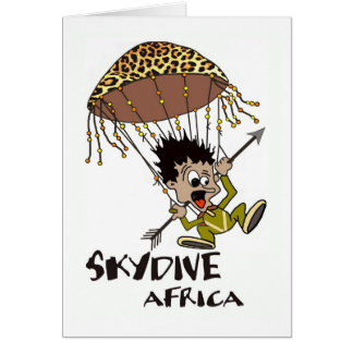 Skydive Africa Happy Birthday Card