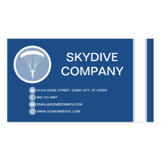 SKYDIVE bubble Business Card Template