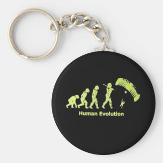 SkyDive Human Evolution Basic Round Button Key Ring