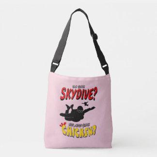 Skydive or Chicken? (blk) Crossbody Bag