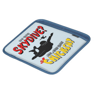 Skydive or Chicken? (blk) iPad Sleeve