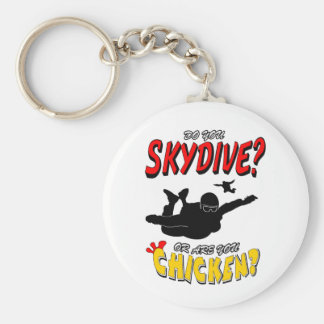 Skydive or Chicken? (blk) Key Ring