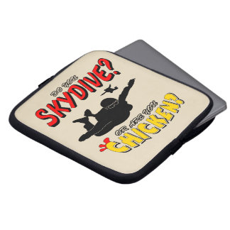 Skydive or Chicken? (blk) Laptop Sleeve