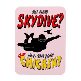 Skydive or Chicken? (blk) Magnet