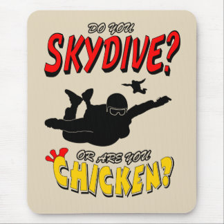 Skydive or Chicken? (blk) Mouse Pad