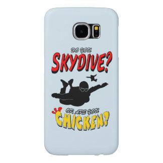 Skydive or Chicken? (blk) Samsung Galaxy S6 Cases