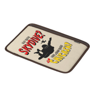 Skydive or Chicken? (blk) Sleeve For MacBook Air