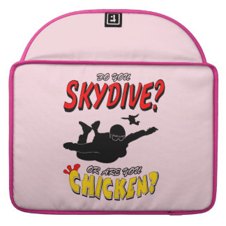 Skydive or Chicken? (blk) Sleeve For MacBooks