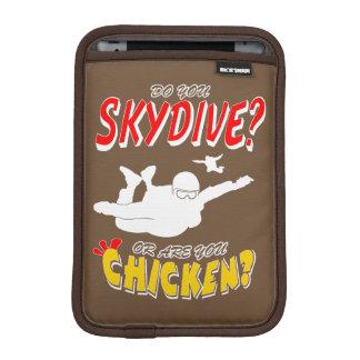 Skydive or Chicken? (wht) iPad Mini Sleeves