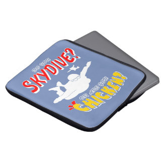 Skydive or Chicken? (wht) Laptop Sleeve