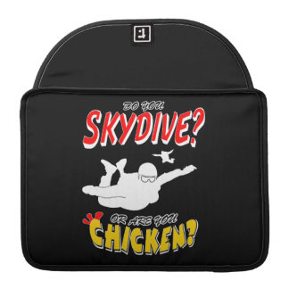 Skydive or Chicken? (wht) Sleeve For MacBook Pro
