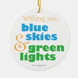 Skydiver Christmas Wish Ceramic Ornament