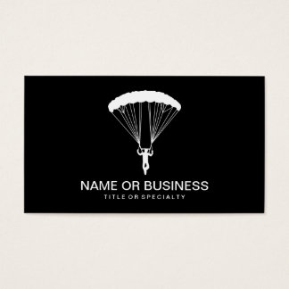 skydiver icon business card