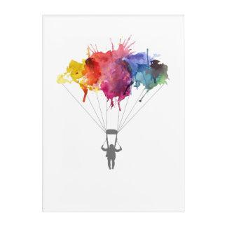 Skydiver, Parachute. Skydiving Sport. Parachuting Acrylic Print