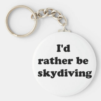 skydiving basic round button key ring