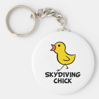 Skydiving Chick Keychain