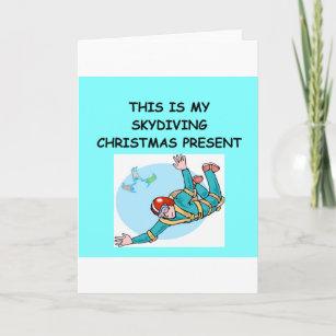 SKYDIVING christmas Holiday Card
