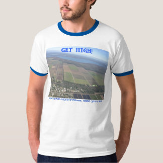 skydiving GET HIGH parachute earth Louisiana T-Shirt