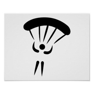 Skydiving parachute poster
